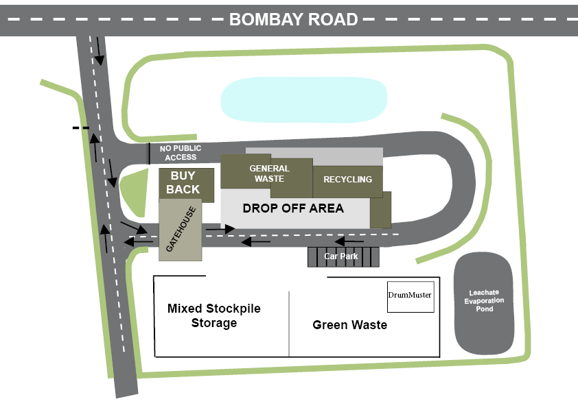 Braidwood Waste Transfer Station site map