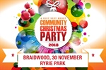 The 2018 Braidwood Community Christmas Party is being held on Friday 30 November from 6-8.30m in Ryrie Park.