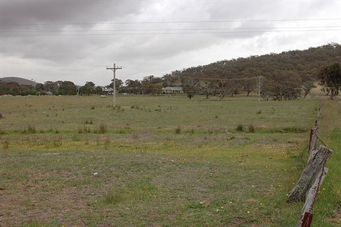 Photo of proposed location for Memorial Park