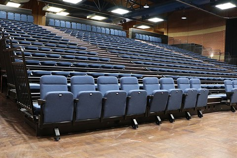 New retractable seating at Bicentennial Hall