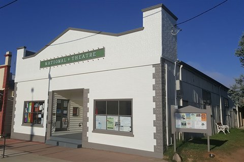 Image of the Braidwood Theatre showing it freshly repainted in January 2018