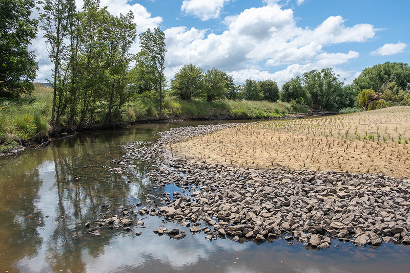 Turallo Creek after flood management works completed