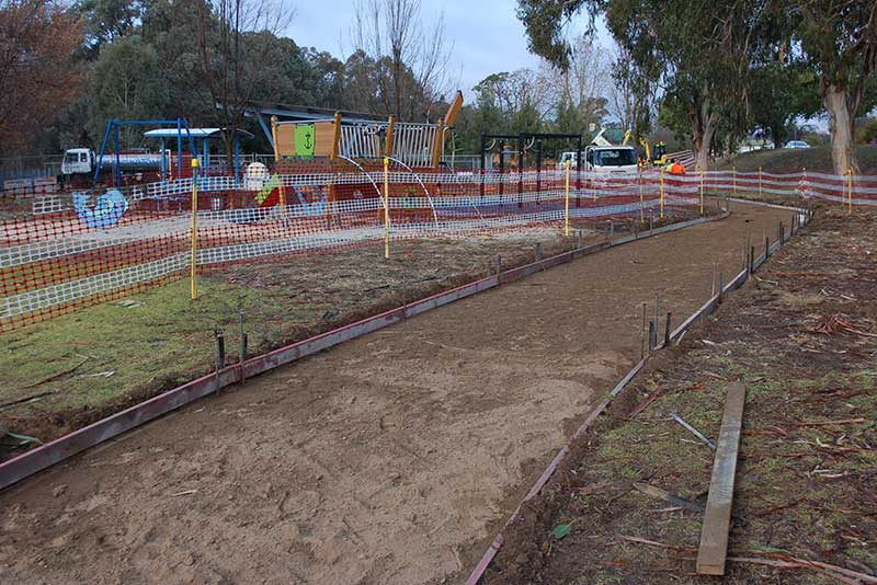 Construction work has commenced on the Thorpe Avenue shared path