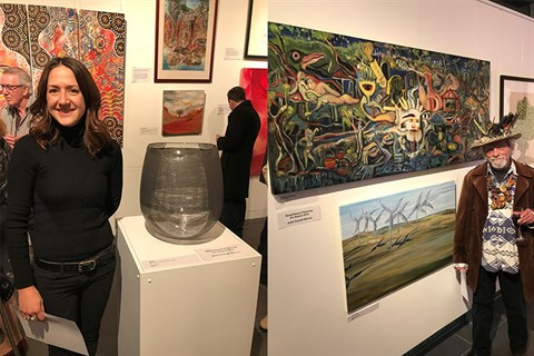 Regional Art Awards Winners Erin Conron and Gunther Deix