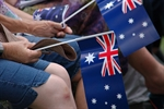 Small Australian flags on Australia Day