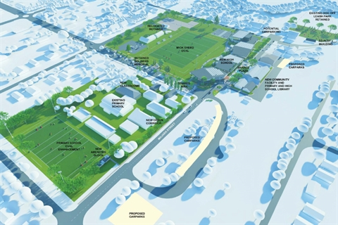 Image of Bungendore High School site and education precinct masterplan