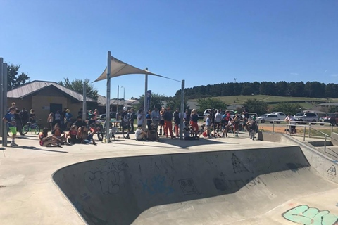 Bungendore Skate Park photo from Youth Week 2017