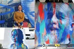 Montage of mural artist Claire Foxton's work