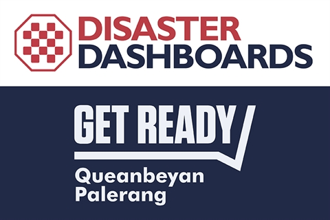 Disaster Dashboards and Get Ready logos