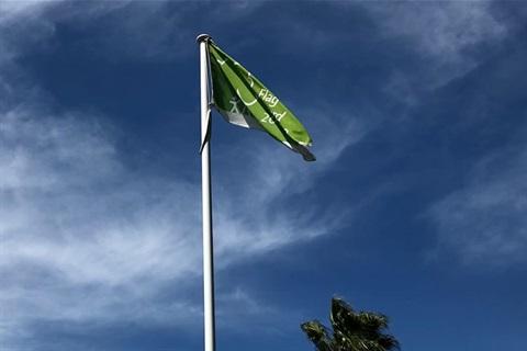 Green Flag Awards fying over Queanbeyan Park November 2020