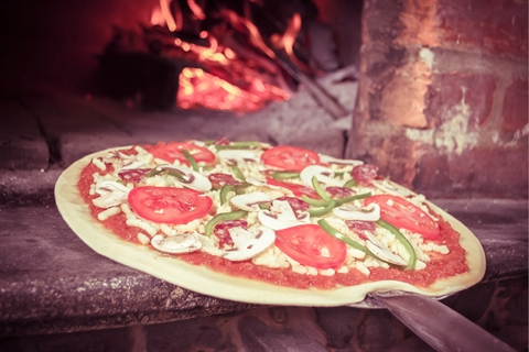 Image of wood fired pizza