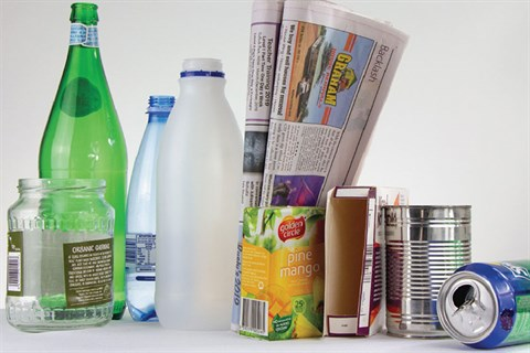 Photo of recyclable items