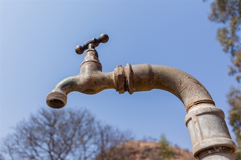 Dry water tap