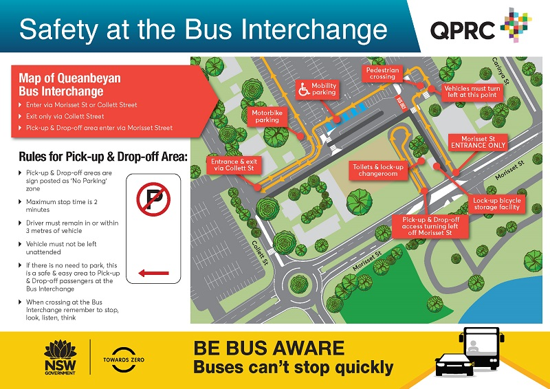 Safety at the Bus Interchange map